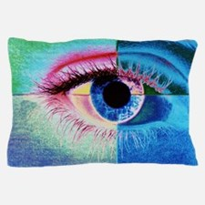 Computer graphic image of a human eye Pillow Case