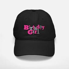 Pink Birthday Girl Star Baseball Hat