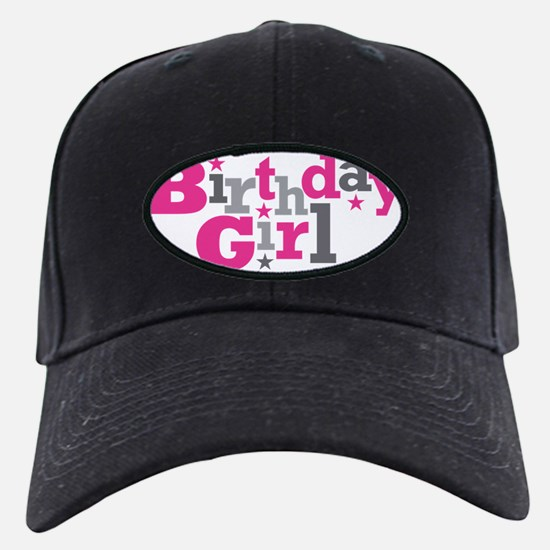 Pink Birthday Girl Star Baseball Hat