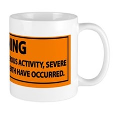 Pole Vault Warning Label Mug