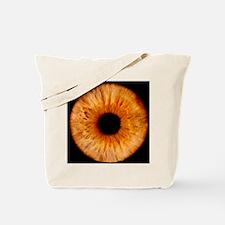 Computer-enhanced brown iris of the eye Tote Bag