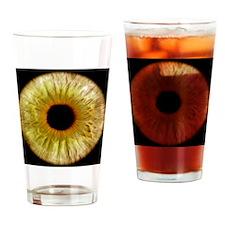 Computer-enhanced green/grey iris o Drinking Glass