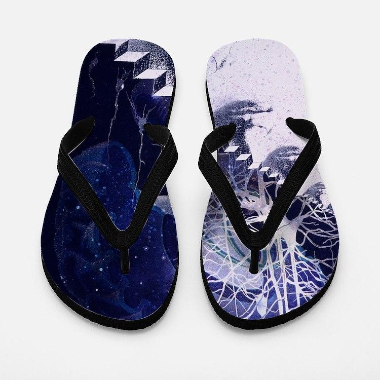 Conceptual art of brain Flip Flops