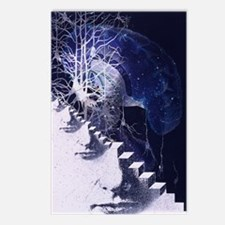 Conceptual art of brain Postcards (Package of 8)