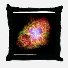 Crab nebula, composite image Throw Pillow