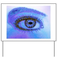 Computer graphic image of a human eye Yard Sign