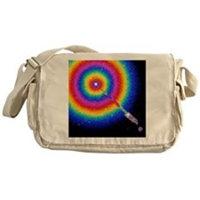 Computer-coloured view of jet in M87 Messenger Bag