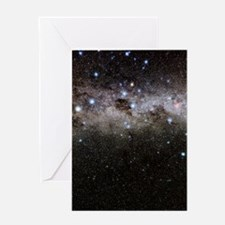 Crux and the southern celestial pole Greeting Card