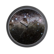 Crux and the southern celestial pole Wall Clock