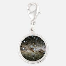 Crux constellation Silver Round Charm