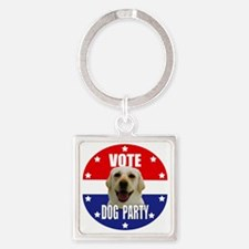 Vote: Dog Party! Square Keychain