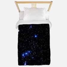 Constellation of Orion with halo effect Twin Duvet