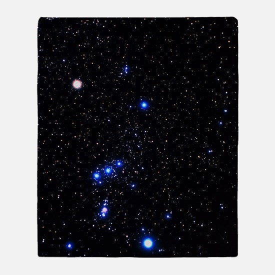Constellation of Orion with halo eff Throw Blanket