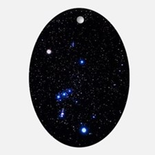 Constellation of Orion with halo eff Oval Ornament