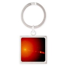 Core of galaxy M87 seen by Hubble  Square Keychain