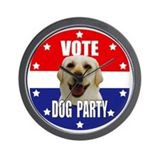Vote: Dog Party! Wall Clock