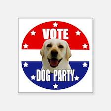 """Vote: Dog Party! Square Sticker 3"""" x 3"""""""