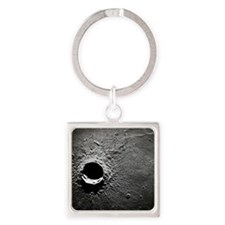 Crater Timocharis on the Moon Square Keychain