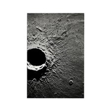 Crater Timocharis on the Moon Rectangle Magnet
