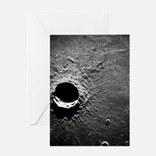 Crater Timocharis on the Moon Greeting Card