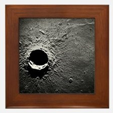 Crater Timocharis on the Moon Framed Tile