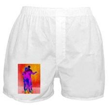 Couple dancing, thermogram Boxer Shorts