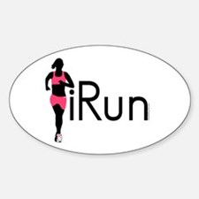 iRun Oval Decal