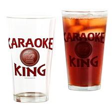KARAOKE KING Drinking Glass