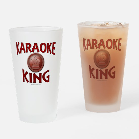 KARAOKE KING Drinking Glass