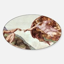Creation of Adam Sticker (Oval)