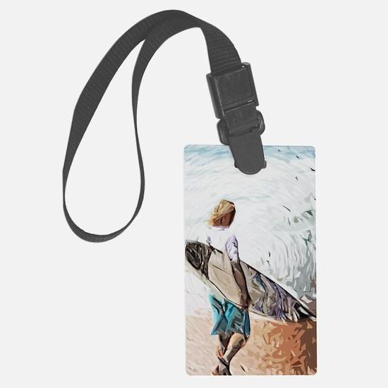 surfer dude Luggage Tag