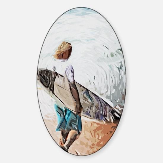 surfer dude Sticker (Oval)