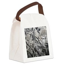 Crystal structures in meteorite Canvas Lunch Bag