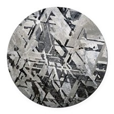Crystal structures in meteorite Round Car Magnet