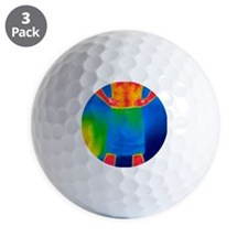 Drying off, thermogram Golf Ball