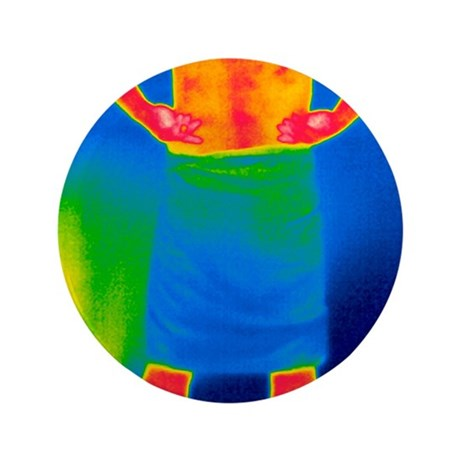 """Drying off, thermogram 3.5"""" Button"""