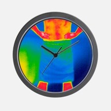 Drying off, thermogram Wall Clock
