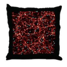 Dark matter map Throw Pillow