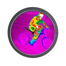 Cycling, thermogram Wall Clock