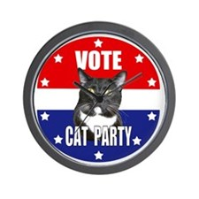 Vote: Cat Party! Wall Clock