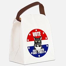 Vote: Cat Party! Canvas Lunch Bag
