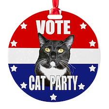 Vote: Cat Party! Ornament