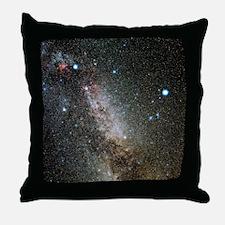 Cygnus and Lyra constellations Throw Pillow