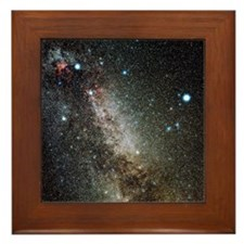 Cygnus and Lyra constellations Framed Tile
