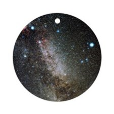 Cygnus and Lyra constellations Round Ornament