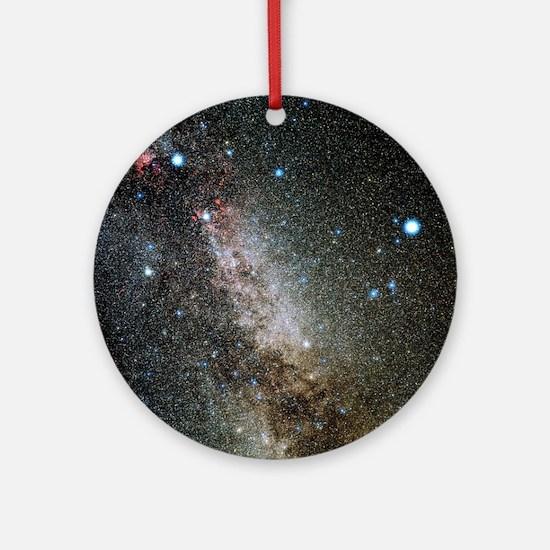 Cygnus and Lyra constellations Round Ornament