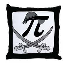 Pi - Rate Greyscale Throw Pillow
