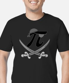 Pi - Rate Greyscale Men's Fitted T-Shirt (dark)