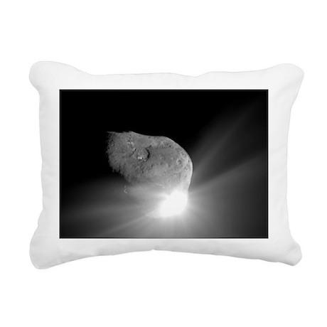 Deep Impact comet strike Rectangular Canvas Pillow