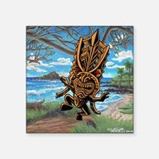 "Dancing down the trail Tiki Square Sticker 3"" x 3"""